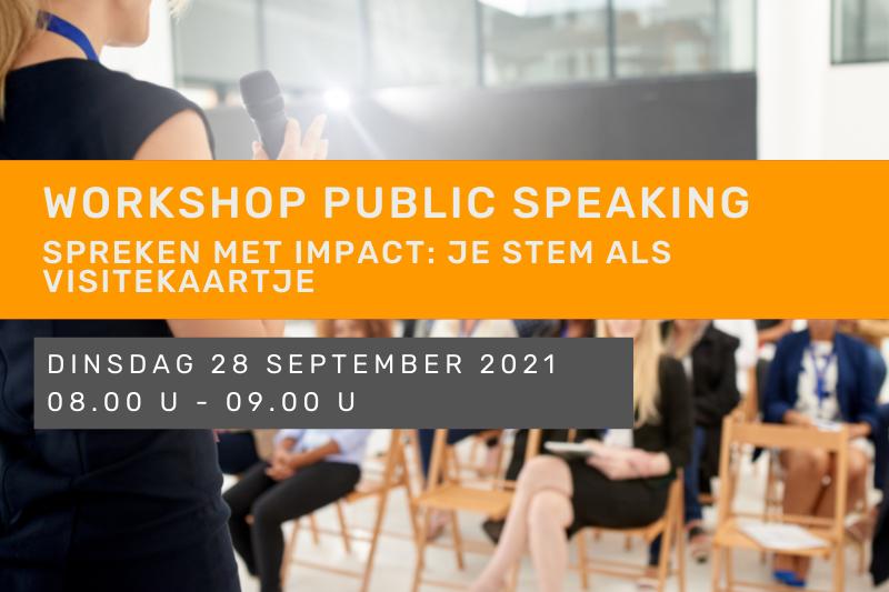 Workshop public speaking – Spreken met impact: je stem als visitekaartje