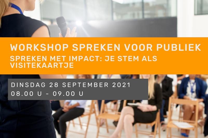 Workshop: Spreken voor publiek