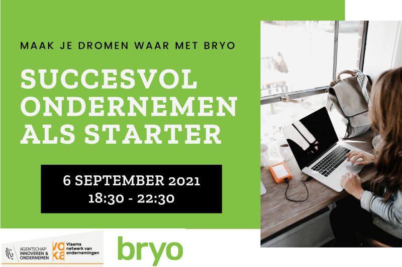 Infoesessie Bryo Succesvol ondernemen als starter