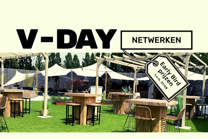 v-day, Tijdens dit netwerkevent in Vlaams-Brabant kan je interessante ondernemers ontmoeten, onze communities ontdekken en samen vieren in een tijdloze setting.