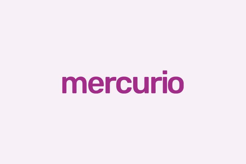 Logo met tekst mercurio