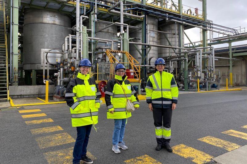 Ellen Samyn (Vlaams Belang) op ontdekking bij Bayer Agriculture