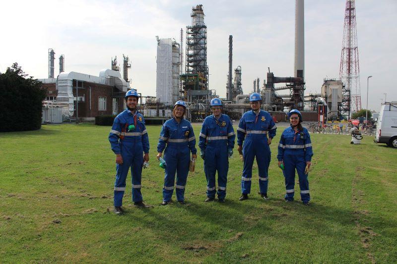 Samuel Cogolati (Ecolo) en Kim Buyst (Groen) op ontdekking bij Total Energies