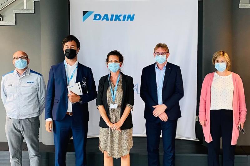 Zomerstage van Wouter De Vriendt (Groen) bij Daikin Europe