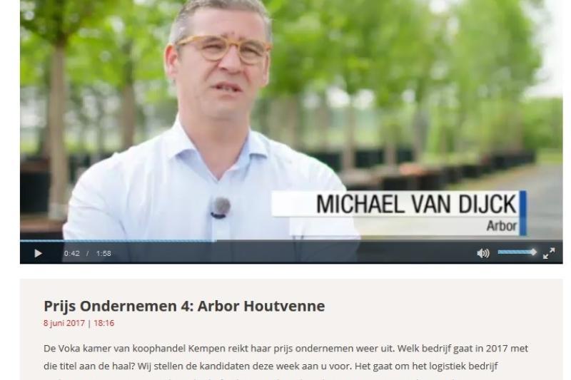 Arbor uit Houtvenne ook genomineerd voor Prijs Ondernemen 2017