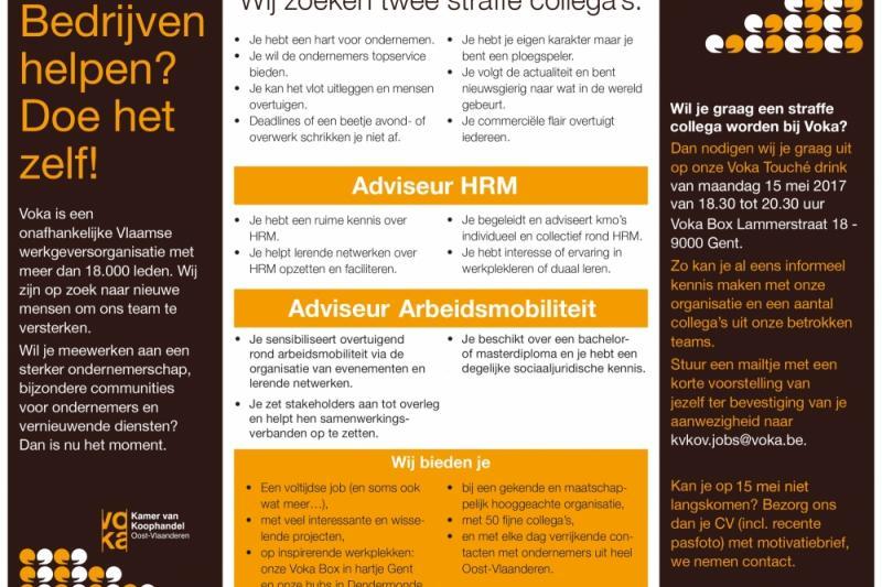 Gezocht: adviseur hrm en arbeidsmobiliteit