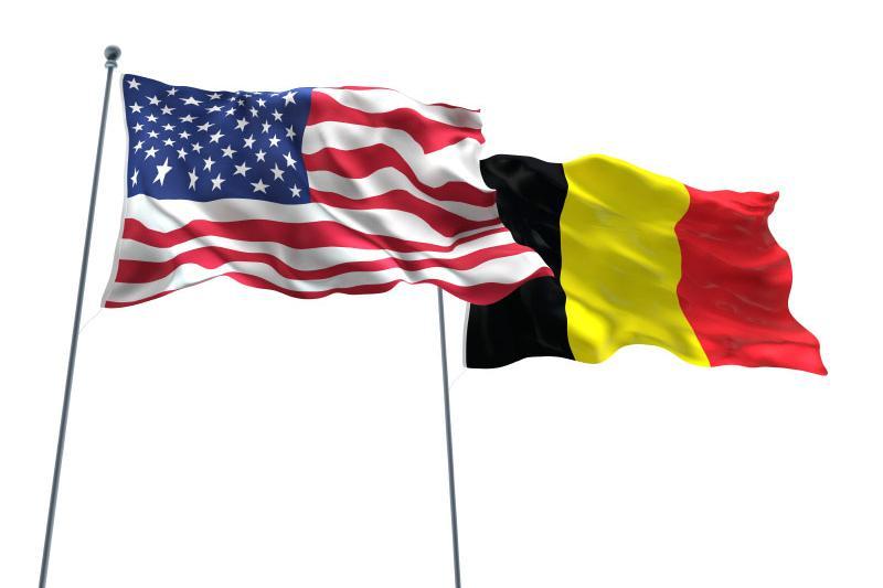 Belgische en Amerikaanse vlag