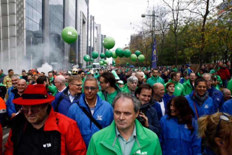 Betoging in Brussel