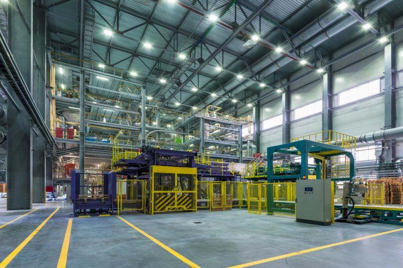 Machinepark van industrieel bedrijf