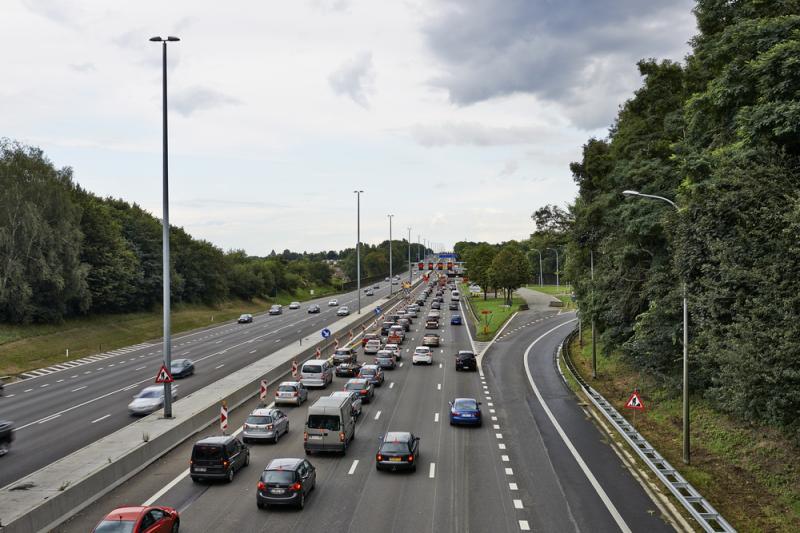 File op Vlaamse snelwegen