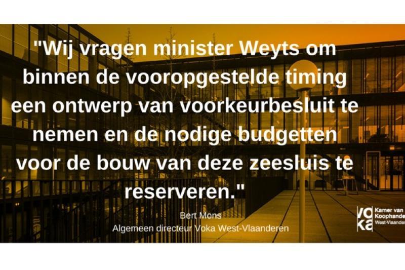 HavencelWest-Vlaanderen vraagt snel beslissing over tweede zeesluis